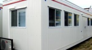 Modular camp at shale gas rig-site